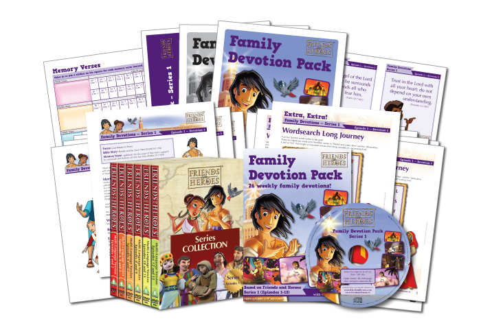 Friends and Heroes Family Devotion Pack