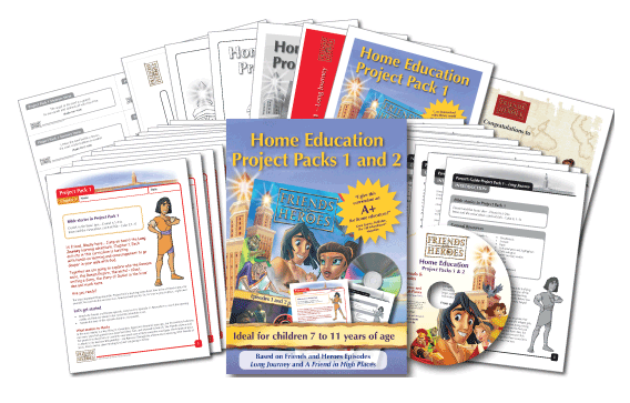 Examples of material in the Home Education Project Packs